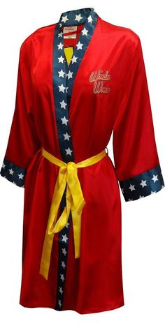 DC Comics Wonder Woman Bombshell Satin Robe - Women Robes - Ideas of Women Robes Logo Wonder Woman, Batman Wonder Woman, Wonder Women, Catwoman, Batgirl, Dc Comics, Harley Quinn, Wonder Woman Birthday, Wonder Woman Wedding