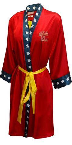 DC Comics Wonder Woman Bombshell Satin Robe