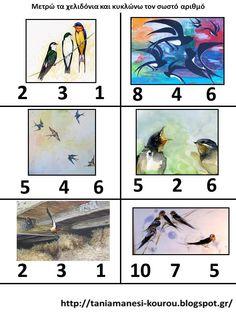 Δραστηριότητες, εποπτικό και παιδαγωγικό υλικό για το Νηπιαγωγείο: ΑΝΟΙΞΗ Math For Kids, Crafts For Kids, Spring Crafts, Bird Houses, Birds, Painting, Kindergarten, Style, Crafts For Children