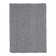 By Nord Cable Knitted Throw | Occa-Home UK