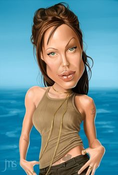 Simpatica caricatura di Angelina Jolie.  --  Funny caricature of Angelina Jolie.