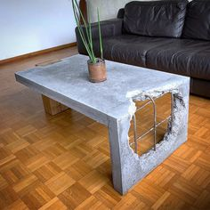 Concrete and Wood coffee table!⠀⠀ Show your work - Email for features⠀⠀ .⠀ made by Concrete and Wood coffee table!⠀⠀ Show your work – Email for features⠀⠀ .⠀ made by Concrete and Wood coffee table! Table Beton, Concrete Table, Concrete Furniture, Concrete Wood, Cool Furniture, Furniture Stores, Furniture Outlet, Luxury Furniture, Deco Originale