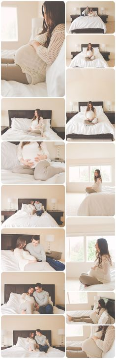 Bed Poses Lifestyle maternity session | Vancouver, WA & Portland, OR lifestyle family photographer | Brit Chandler Photography                                                                                                                                                     More #PregnancyPhotography