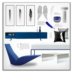 """""""Light as Feather"""" by snowbell ❤ liked on Polyvore featuring interior, interiors, interior design, home, home decor, interior decorating, Kim Salmela, Dot & Bo, Cappellini and Pillow Decor"""