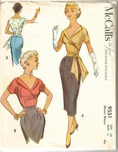 McCall's 9551 ©1953 Wrap Blouse