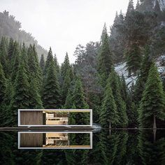Stavenger House by @alex_nerovnya Found via @architecture_hunter Go to @designbunker for more of what you love! #architect #architects #architecture #architectures #architecturelovers #architectureporn #arquitetura #arquiteturaeurbanismo #arquitectura #arquiteto #rendering #builtin #openness #chilling #woodland #modern #views #designbunker #instadesign #instaarchitecture #wow #whataview #building #woods #scenery #peaceful