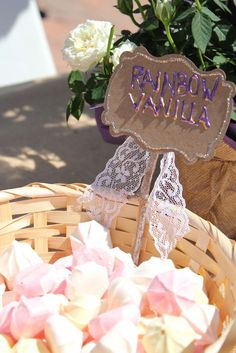 Yael's Vintage Rapunzel 4th birthday | CatchMyParty.com