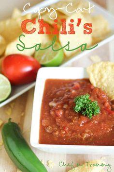 Chili's Salsa  Get recipe: http://www.chef-in-training.com/2012/08/copy-cat-chilis-salsa/