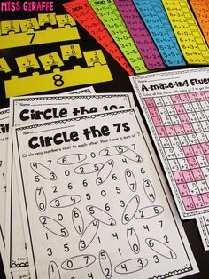 Lots of addition fact fluency ideas! Circle the Sums is an awesome fact fluency activity where students look at their number being practiced and circle the numbers that make itA ton of fun ways to practice fact fluency in first grade - LOVE this one 2nd Grade Math Games, Second Grade Math, 2nd Grade Centers, Math Centers, Games Of Math, Third Grade, First Grade Addition, Math Addition Games, 2nd Grade Activities