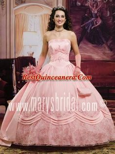 Pretty ball gown strapless neck light pink Quinceanera Dress Dresses on  Wanelo 39f5e3b5b0bf