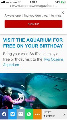 Free On Your Birthday, Ocean Aquarium, Bring It On