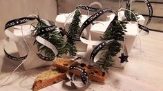 Lebkuchen-Cantuccini weihnachtlich verpackt