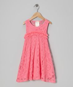 Look what I found on #zulily! Pink Vanilla Blush Crocheted Dress - Toddler by Pink Vanilla #zulilyfinds
