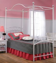 Hillsdale 1864BFPR Emily Bed Set - Full - w/Rails & Canopy