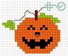 Jack-o-lantern cross-stitch