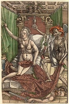 The hour of death Beham, Hans Sebald (1500-1550) | Manufacturer 1522 Engraving CabinetThe hour of death