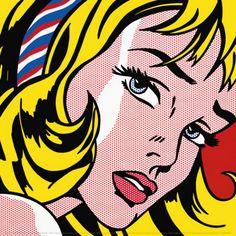 roy lichtenstein girl with hair ribbon c1965, Roy Lichtenstein Gallery, Art, Picture, Image, Galleries