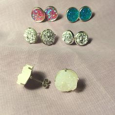 I just listed Druzy Stud Earring S… ($12) on Mercari! Come check it out! http://item.mercariapp.com/gl/m917081817