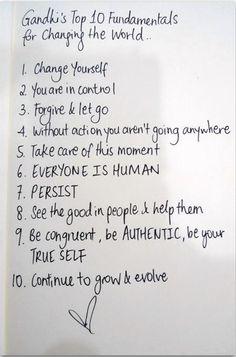 """ૐƸ̵̡Ӝ̵̨̄Ʒツ♥ღGandhi's Top 10 Fundamentals For Changing The World, May YOU Be BLESSEDƸ̵̡Ӝ̵̨̄Ʒツ♥ღHope You """"ALL"""" Have a Beautiful, Peaceful, Blessed Weekツ♥ღƸ̵̡Ӝ̵̨̄Ʒ  ைღ ☼*♥*~ ॐ Namaste ॐ ைღ ☼*♥*~"""