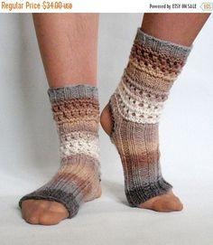 Yoga Socks Dance Pilates Ballet Brown Beige Gray by Initasworks Pilates Socks, Yoga Pilates, Knee Socks, Boot Socks, Boot Cuffs, Ballet Boots, Dance Leotards, Knitting Socks, Free Knitting