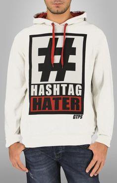 Ανδρικό φούτερ hashtag  FOUT-1196-wh Φούτερ - Sport & Αθλητικά - Άνδρας Graphic Sweatshirt, Sweatshirts, Sports, Sweaters, Fashion, Hs Sports, Moda, Fashion Styles, Trainers