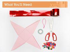 What you'll need to make a mini Christmas piñata