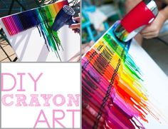 DIY Room Decor (Crayon Art) I will do it, it's really cute.