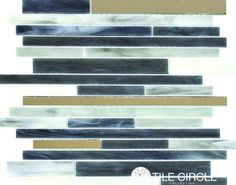 Shop blue sea glass mosaic tiles for backsplashes, bathrooms and accent walls.  Free Shipping!