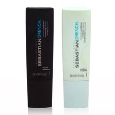 Sebastian Drench shampoo and conditioner. moisturizes and great for my fried hair