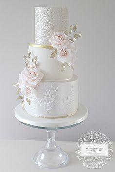 The Designer Cake Company Black Wedding Cakes, Floral Wedding Cakes, Wedding Cake Rustic, Elegant Wedding Cakes, Elegant Cakes, Beautiful Wedding Cakes, Wedding Cake Designs, Beautiful Cakes, Bolo Nacked