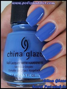 China Glaze Secret Peri-wink-le. Agian I got this color for my birthday and i love it. Great for spring and summer but i also think this is nice for winter can give any outfit a nice pop of color.  -Haleigh