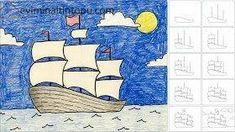 kolay gemi çizimi | Evimin Altın Topu