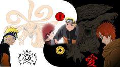 Naruto, Gaara , Kyuubi