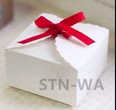 24x White Paper Gift Cake Boxes Party Wedding Favour Bomboniere Wrap Boxes