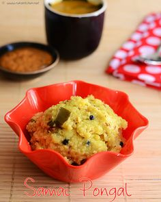 Samai ( little millet) pongal/ Kichdi Millet recipes Indian Breakfast, Breakfast For Dinner, Breakfast Recipes, Dinner Recipes, Millet Recipes, Rice Recipes, Healthy Recipes, Healthy Foods, Vegetarian Cooking
