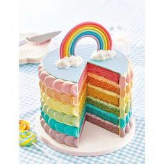 Omg if only I could have this cake for my birthday!  I hope you're fine guys! Enjoy your holiday if you're on holiday and if not cheer up!  Kisses for all my unicorns!  #rainbow#cake#dessert