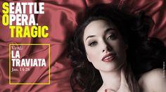 Seattle Opera: La Traviata, January 14 - 28, 2017 at McCaw Hall. #SeattleOpera #SOtragic #McCawHall #Seattle