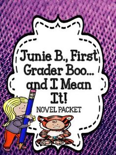 Junie B., First Grader Boo .... and I Mean It! -  Book Packet