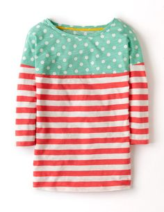 I've spotted this @BodenClothing Colourblock Breton Tropical Peach/Persian Green