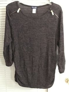 DISCOUNT $8.95 Olivia Blu Maternity Top Large, #PeekabooMaternityDresses, #PregnancyJeans Cheap Maternity Clothes, Cute Maternity Outfits, Maternity Leggings, Maternity Gowns, Lace Sleeves, Black Tops, Tunic Tops, Ebay, Fashion