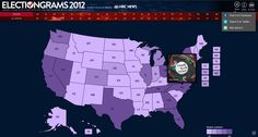 @NBC News has a new application called Electiongram 2012 that aggregates any Instagram photos tagged with #NBCPolitics onto a Pinterest-style site that can be broken down by state.