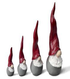 Santa High Hat mini nisser, sæt á 4 stk.