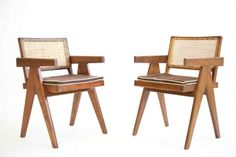 1stdibs.com | Pierre Jeanneret and Le Corbusier Pair of Armchairs. 9000