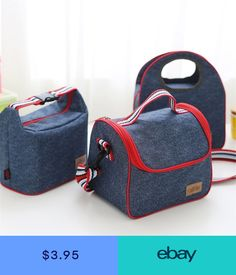 Oxford and Aluminum Lunch Bag Kid Box Insulated Pack Picnic Drink Food Thermal Ice Cooler outdoor camping hiking picnic bag Thermal Lunch Bag, Insulated Lunch Bags, Kids Lunch Bags, Lunch Tote, Tote Organization, Picnic Bag, Portable, Online Bags, Organizer
