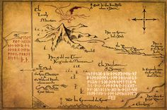 Thorin's Map from The Lord of the Rings and The Hobbit 11 x 17 Poster. $15.00, via Etsy.