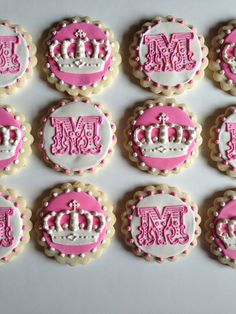 Princess Crown Birthday Cookies / One Dozen by ShopCookieCouture, $40.00