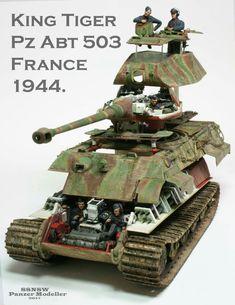 King Tiger tank with full interior detail Tamiya Model Kits, Tamiya Models, Tiger Ii, Army Vehicles, Armored Vehicles, Rc Tank, German Soldiers Ww2, Tank Armor, Tiger Tank