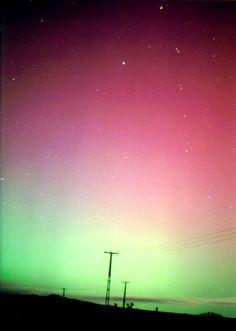 Aurora Australis, near Wellington, New Zealand