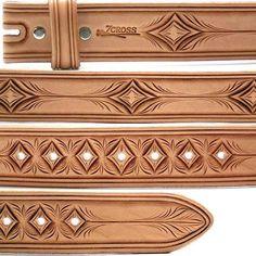 06XY Rakuten Ichiba Shop | Rakuten Global Market: 36 Inch ( ハーマンオーク ) leather belt. 7 CROSS produces & hand carved, with Kubota Atsushi