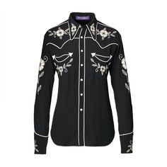 Sydney Embroidered Twill Shirt ($2,490) | 10 Designer Collections From NYFW You Can Shop Right Now | POPSUGAR Fashion